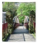Jubilee Bridge - Matlock Bath Fleece Blanket