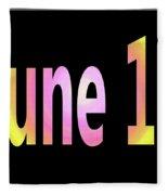 June 12 Fleece Blanket