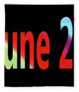 June 24 Fleece Blanket