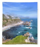 Jurassic Coast - England Fleece Blanket