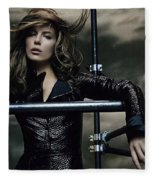 Kate Beckinsale Fleece Blanket