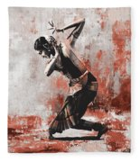 Kathak Dancer  Fleece Blanket