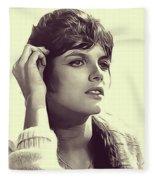 Katharine Ross, Vintage Actress Fleece Blanket