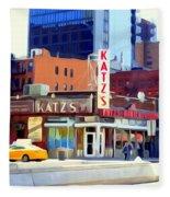 Katz's Delicatessan Fleece Blanket