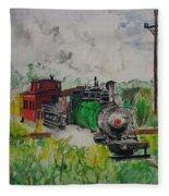 Kettle Moraine Train Fleece Blanket