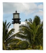Key Biscayne Lighthouse, Florida Fleece Blanket