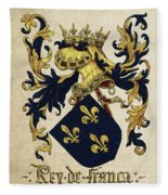 King Of France Coat Of Arms - Livro Do Armeiro-mor  Fleece Blanket