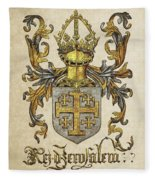 Kingdom Of Jerusalem Coat Of Arms - Livro Do Armeiro-mor Fleece Blanket