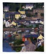 Kinsale, Co Cork, Ireland Boats And Fleece Blanket