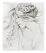 Kiss Of Wind Fleece Blanket