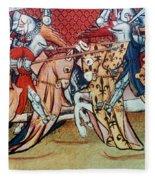 Knights In Tournament Fleece Blanket