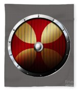 Knights Templar Shield Fleece Blanket