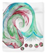Koi Fish-watercolor Fleece Blanket