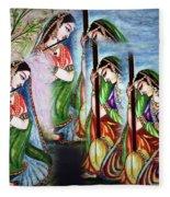Krishna Prayer  Fleece Blanket