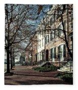La Fayette Park In Autumn Fleece Blanket