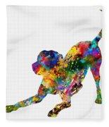 Labrador Retriever-colorful Fleece Blanket