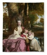 Lady Elizabeth Delme And Her Children Fleece Blanket