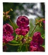 Lady Slipper Orchid Dan146 Fleece Blanket