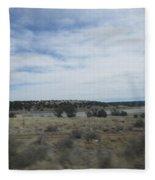 Lake At Concho Fleece Blanket