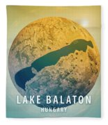 Lake Balaton 3d Little Planet 360-degree Sphere Panorama Fleece Blanket