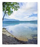 Lake Mcdonald In Glacier National Park Montanaa Fleece Blanket