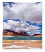 Lake Meniques In Chile Fleece Blanket