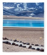 Lake Miscanti In Chile Fleece Blanket