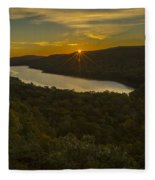 Lake Of The Clouds Sunrise Fleece Blanket