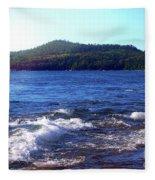 Lake Superior Landscape Fleece Blanket