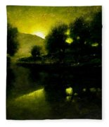Lakeside Sunset Fleece Blanket