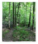Lakeside Trail Winding Path - Yellowwood Lake Fleece Blanket