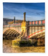 Lambeth Bridge London Fleece Blanket
