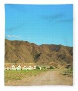 Landscape Desert In Almeria, Andalusia, Spain Fleece Blanket
