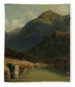 Landscape From Brienzersee Fleece Blanket