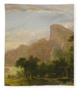 Landscape Scene From Thanatopsis Fleece Blanket