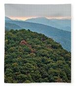 Landscape View At Cedar Mountain Overlook Fleece Blanket