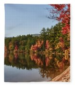 Late Afternoon On Lake Chocorua Fleece Blanket