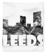 Leeds England Skyline Fleece Blanket