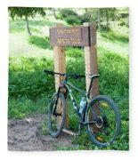 Leisure Cross Contry Cyclists Fleece Blanket