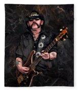Lemmy Kilmister With Guitar Fleece Blanket