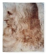 Leonardo Da Vinci Fleece Blanket