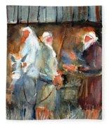 Liberty - At The Manger Fleece Blanket