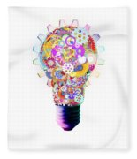 Light Bulb Design By Cogs And Gears  Fleece Blanket