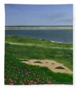 Sea Roses Fleece Blanket