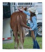 Lil' Cowgirl Fleece Blanket