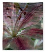 Lily Blossom Fleece Blanket