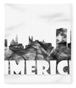 Limerick Ireland Skyline Fleece Blanket