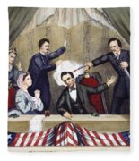 Lincoln Assassination Fleece Blanket