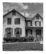 Lincoln Cottage In Black And White Fleece Blanket