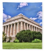 Lincoln Memorial Fleece Blanket
